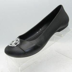 Crocs Shoes - Crocs Size 8 M Black Medallion Ballet Flats B4 C15